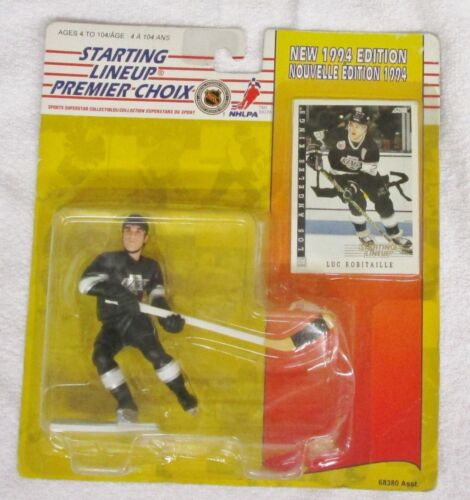 NHL Luc Robitaille 1994 Starting Lineup Figure /& Card Los Angeles Kings