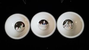 3-Polar-Party-Christmas-Cereal-Bowls-Penguin-Bear-Seals-by-EPOCH