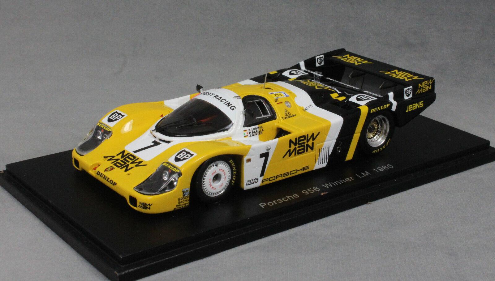 suministramos lo mejor Spark Porsche 956 956 956 Le Mans Winner 1985 Ludwig Barilla y de invierno 43LM85 1 43 Nuevo  tienda de ventas outlet