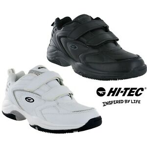 mens hitec velcro leather running walking gym trainers