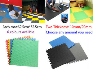 62.5cm*62.5cm*<wbr/>10mm Thick Interlocking Eva Soft Foam  Floor Mats Gym Garage Mats