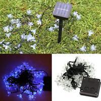 50led Solar String Light Outdoor Fairy Flower Blossom Xmas Wedding Lights L4d9