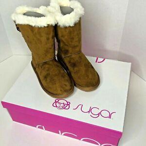 Girl's Sugar Faux Fur Boots Size 12M