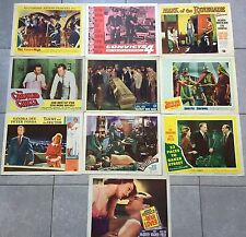 LOT DE 10 LOBBY CARD Films américains 40's-50's-60's War Lover, Naked Maja.. *