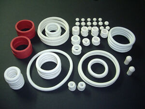 White Rubber Ring Kit Pinball Assortment Set Gomas Universal Blanco Belle Qualité