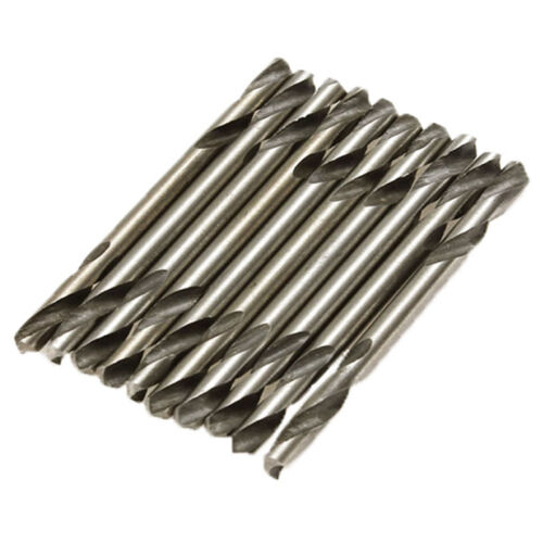 """10 pcs 1//8/"""" 3.2MM Diam Hss Double Ended Stub Metal Drill Bits End Stell Rep G0D1"""