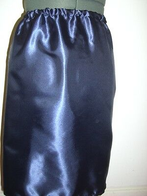 navy blue satin underskirt slip custom 10 12 14 16 18 20 22 24 26 28 30 32 34