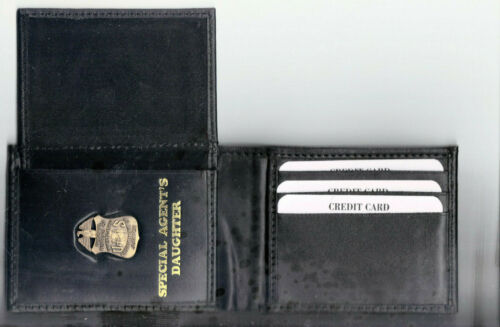 FBI Special Agent/'s Daughter Credit Card Wallet with Antique Mini Pin CT-70
