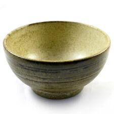 "Japanese 7.5/""D Ceramic Ramen Noodle Soup Bowl BK Brown YUZU TENMOK  Made Japan"