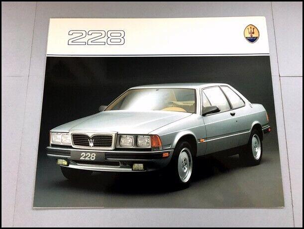 1988 1989 1990 Maserati 228 Biturbo Original Car Sales ...