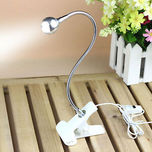 flexible usb reading led light clip on beside bed table. Black Bedroom Furniture Sets. Home Design Ideas