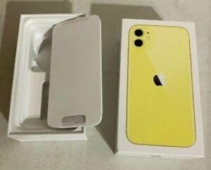 Apple iphone 11 64GB Yellow Box Original Retail Packaging Genuine Empty Box