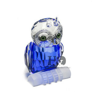 H-amp-D-Blue-Crystal-Paperweight-Facet-Owl-Figurines-Glass-Wedding-Collectibles-Gift