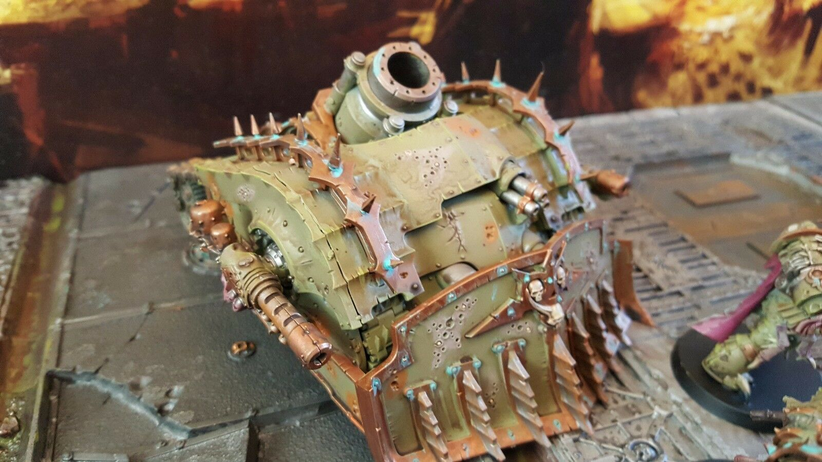 Warhammer 40k death guard pro painted  plagueburst crawler made to order