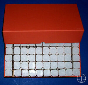 50-QUARTER-SIZE-SQUARE-Coin-Tubes-in-Heavy-Duty-Storage-Box-COIN-SAFE