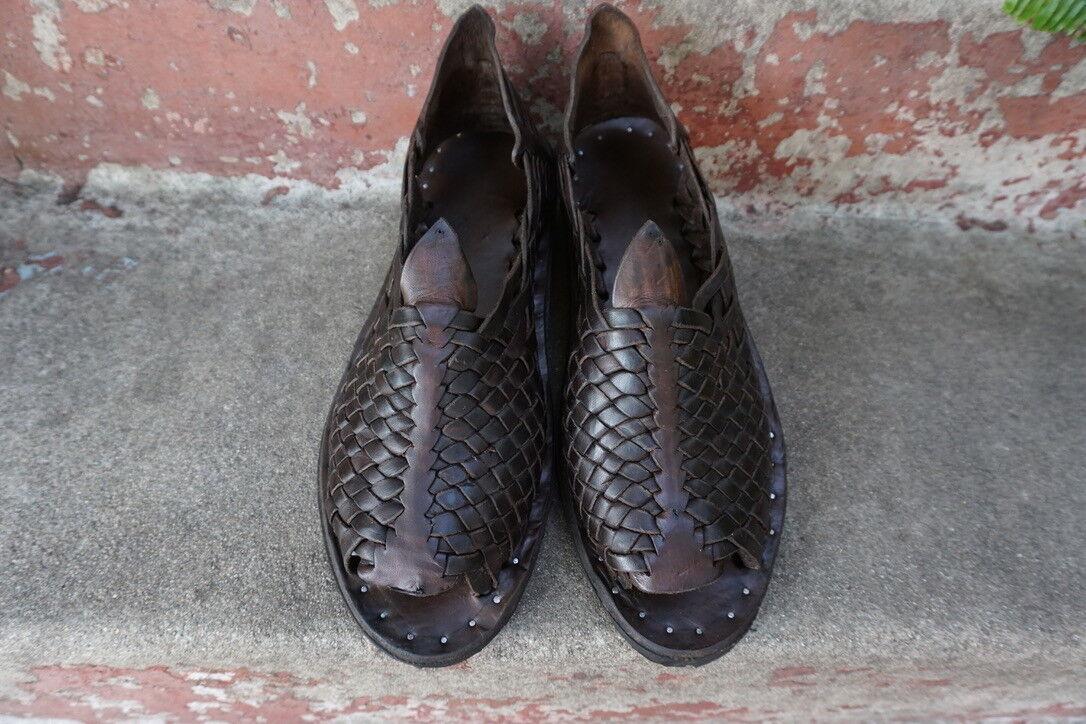 THE PETATILLO VINTAGE OILED mexican sandals hombres huaraches mexicanos ACME