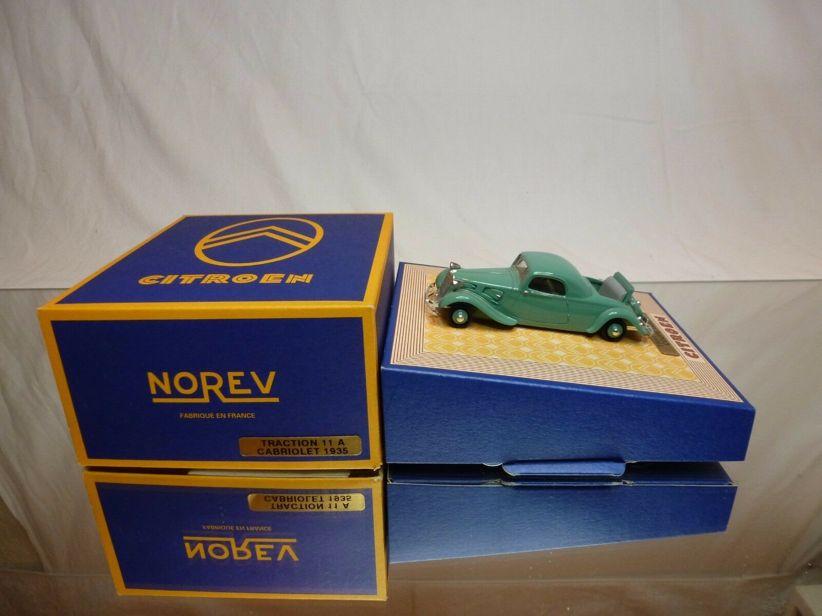 NOREV NOREV NOREV CITROEN 11A  COUPE 1935 -  verde 1 43 - EXCELLENT IN BOX ab1aea