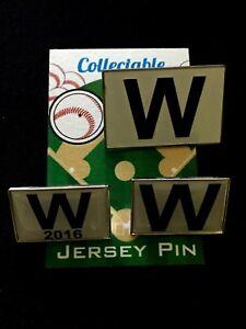 86368d9d15059 Chicago Cubs lapel pins-(3)W Flag-WS CHAMPS-Collectables-Best deal ...