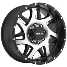 New Listing4 20 Inch Mkw Offroad M91 20x9 8x16518x65 10mm Blackmachined Wheels Rims
