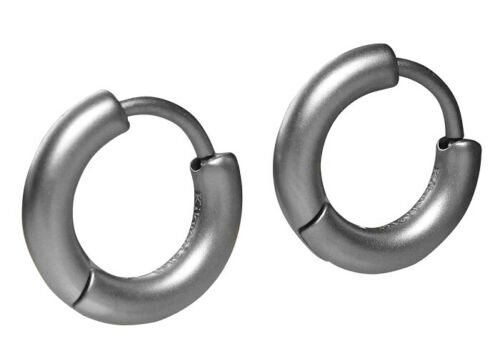Kikuchi Klassische Ohrringe Titan-Edelstahl Creolen 3mm//16mmØ Tube Damen Herren