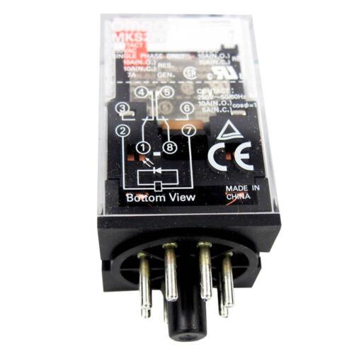 Omron 24VAC 8-Pin Octal Plug in General Purpose Relay DPDT 10A MKS2PNAC24