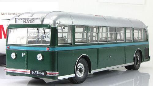 Scale model bus 1:43 NATI-A green//silver 1938
