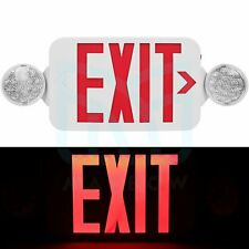 Led Exit Sign Emergency Light Red Letter Compact Combo 120270v Fire Resistance