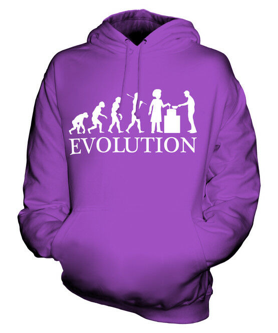 SOUP KITCHEN EVOLUTION OF MAN UNISEX HOODIE MENS WOMENS LADIES GIFT HOMELESS