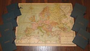 7-Cartas-Geograf-EUROPA-NORTE-AMERICA-Africa-ASIA-MILANO-ITALIA-OCEAN-A