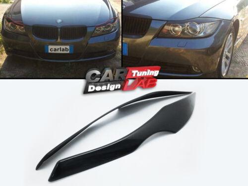Black eyelids eyelid eyebrow headlight covers Fits 2005-2009 BMW E90 E91