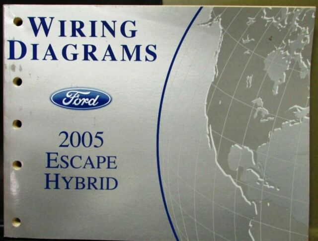 2005 Ford Electrical Wiring Diagram Service Manual Escape