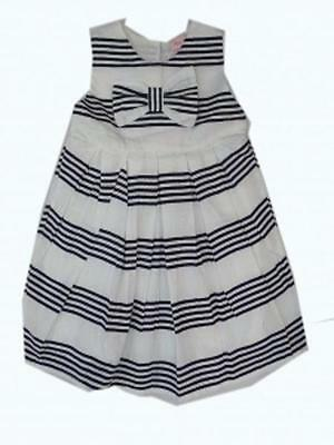 Age 2-3 Years Only BNWT Girls Mini Moi Navy /& White Stripe Dress Fully Lined