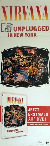 NIRVANA - 2007 - Promoplakat - DVD - Unplugged - Poster