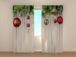 Gardinen Weihnachten.Details Zu Fotogardinen Weihnachten Fotovorhang Vorhang Gardinen Dekor Fotodruck Auf Maß