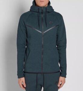 Détails sur Men's Nike Tech fleece Coursevent Sweat à Capuche Veste Manteau Petit Vert foncé 805144 346 afficher le titre d'origine