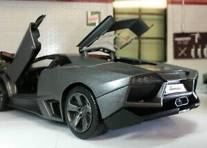 1-24-Escala-Lamborghini-Reventon-Reventon-Gris-MOTORMAX-fundido-Modelismo-Coche