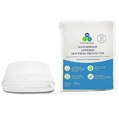 Zippered Fully Encased Mattress Cover Protector Waterproof