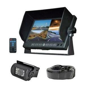 New-DVR-Video-Cam-Weatherproof-Backup-Camera-amp-7-034-Monitor-for-Bus-Truck-Trailer