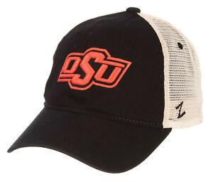 OKLAHOMA-ST-COWBOYS-NCAA-MESH-SLOUCH-TRUCKER-SNAPBACK-Z-WASHED-CAP-HAT-NWT