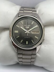 Seiko 5 Automatic Vintage Day&Date  stainless steel 36 mm 7009-3040 Men's Watch
