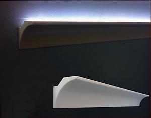 10 CORNICI IN POLISTIROLO TAGLIATE 70 x 70 x 1500 MM NEGOZI CASA CORNICE PER LED