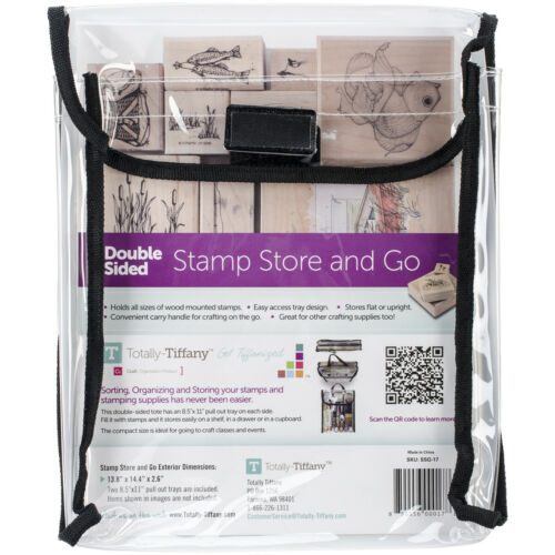"""Double-Sided Stamp Store And Go Bag-9/""""X11.5/""""X2/"""""""