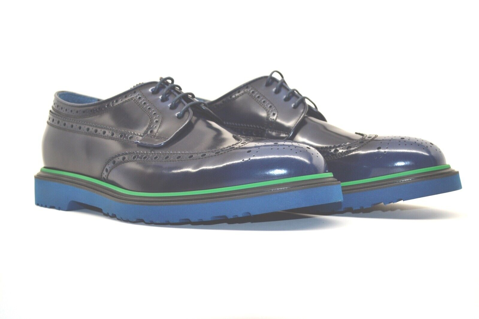 """Paul Smith """"CRISPIN"""" Navy High Shine Leather Brogues UK 11 US 12 New RRP"""