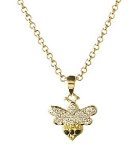 Bee Swarovski®  Crystal Necklace, Gold-Plated Chain with Bee Pendant