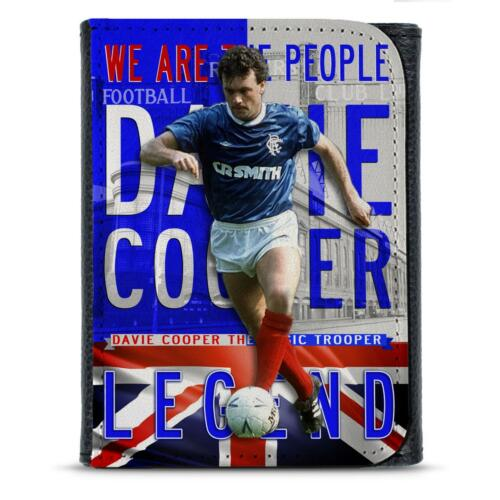 Cooper Glasgow Rangers PU Leather Wallet Football Legend Mens Dad Him Gift LG20