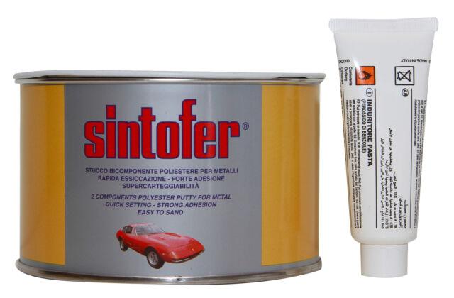 Sintofer stucco 500 ml per carrozzeria ferro metallo poliestere bianco