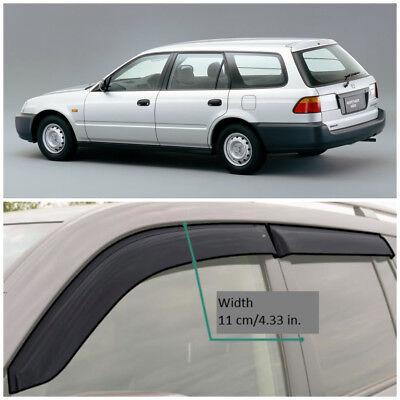 For Honda Partner 1996-2006 Window Side Visors Sun Rain Guard Vent Deflectors
