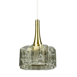 Doria Pendelleuchte Glas & Alu Lüster 215 cm Hängelampe 1/5 Vintage 60er 70er