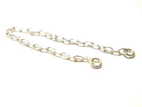 Sterling Silver Safety //Extension Chain 2.5 inches Bracelet-Necklace-.925