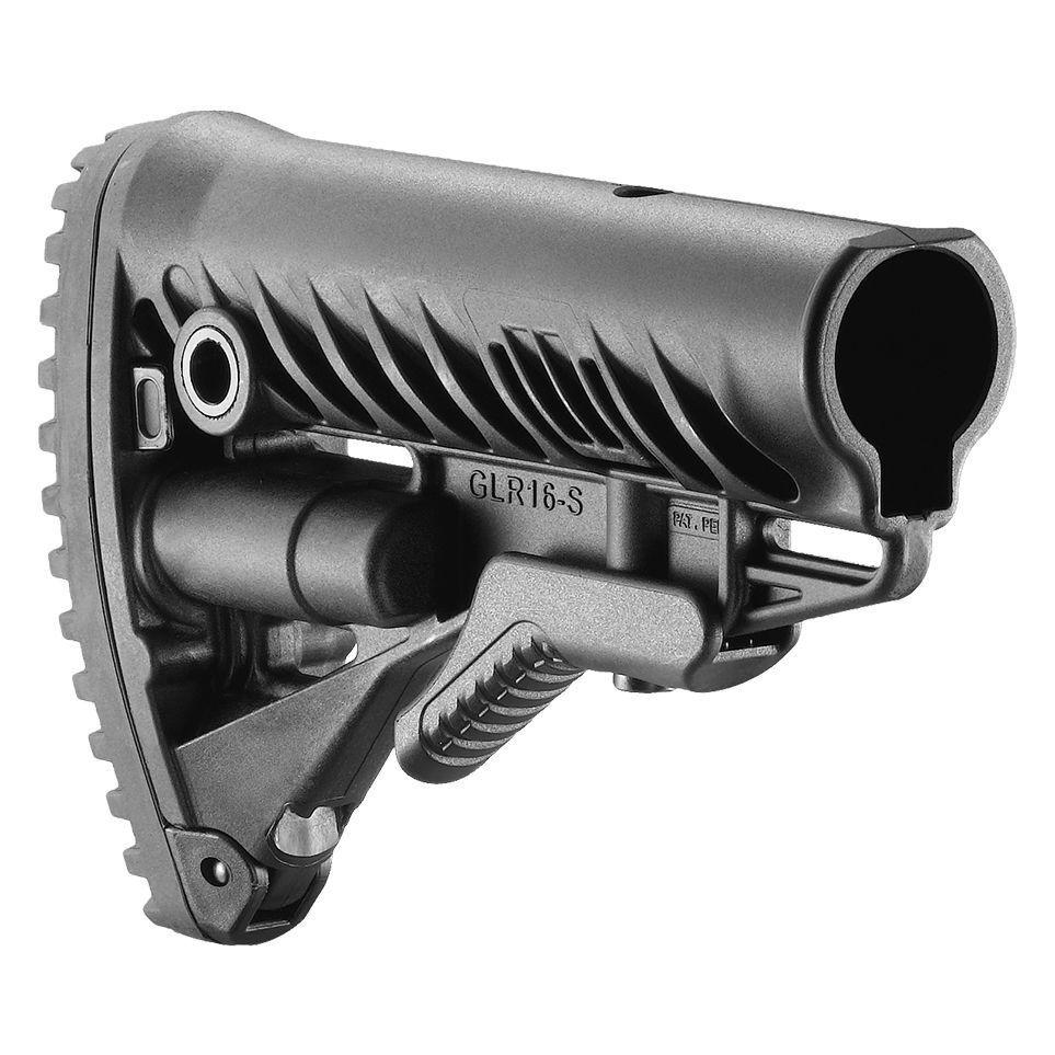 Stock de polímero FAB Defense plegable con diseño antideslizante Butt Pad-GLR-16